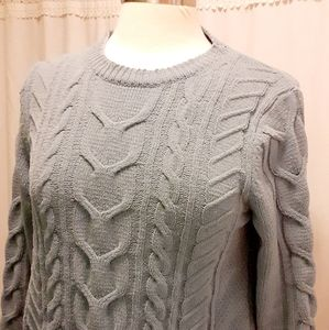 j jill chenille small sweater knitted blue Womens